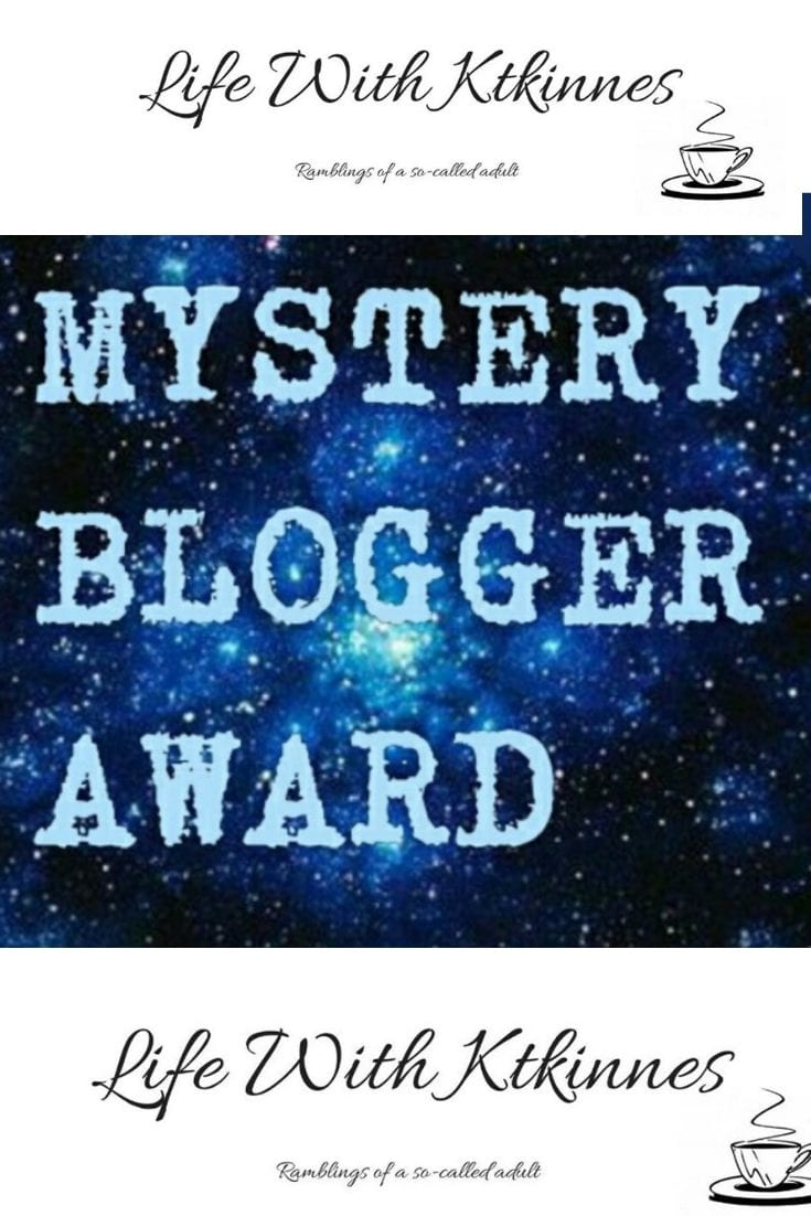 The Mystery Blogger Tag Logo - White writing on a starry background