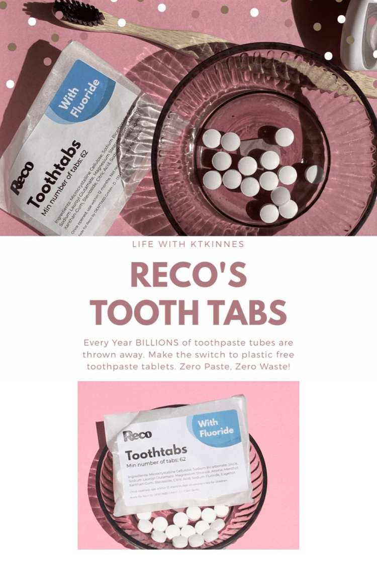A larger infographic displaying the Reco's ToothTabs, and information regarding Reco's ToothTabs