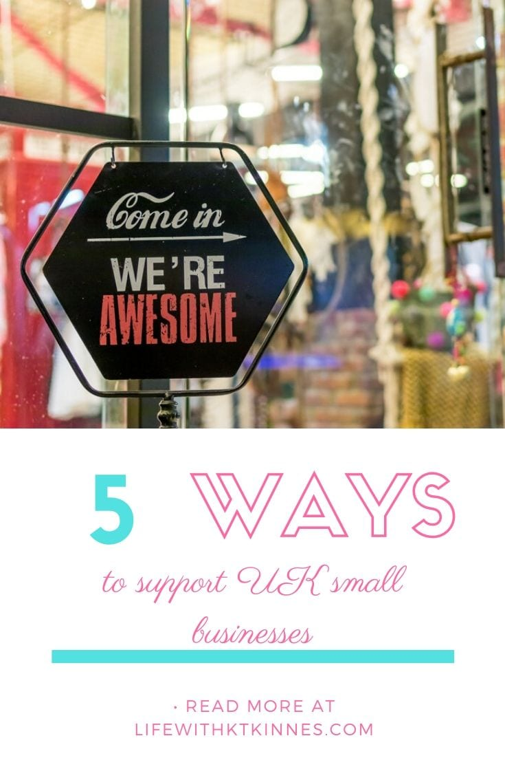 How To Support UK Small Businesses Feature Image in Pinterest form