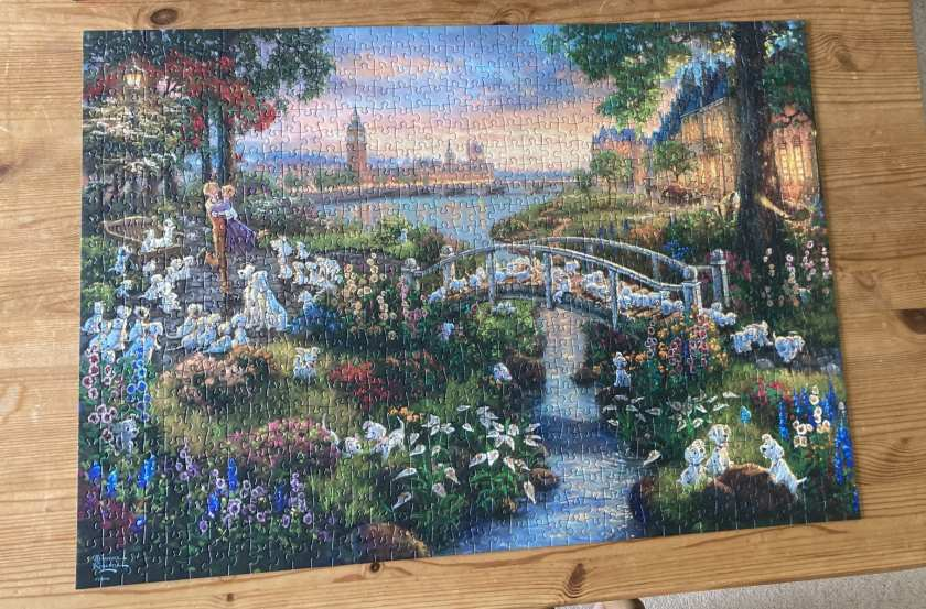 The 101 Dalmatians jigsaw I completed in June 2020