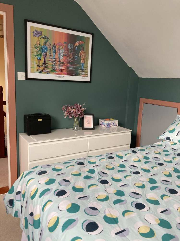 My New Bedroom - showcasing the colour of the walls
