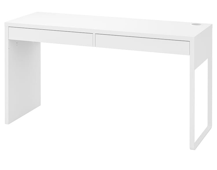 MICKE desk in White from IKEA for my new bedroom