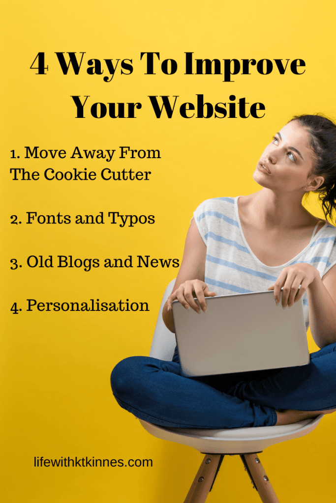 Website TLC Infographic - 4 ways to improve your website
