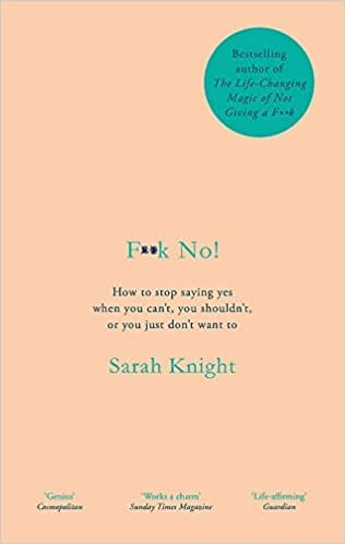 Book cover for F**k No! by Sarah Knight for my books read in 2020