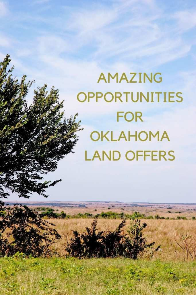 Oklahoma land image with the title Amazing Opportunities for Oklahoma Land Offers written in the colour of the Oklahoma hay.
