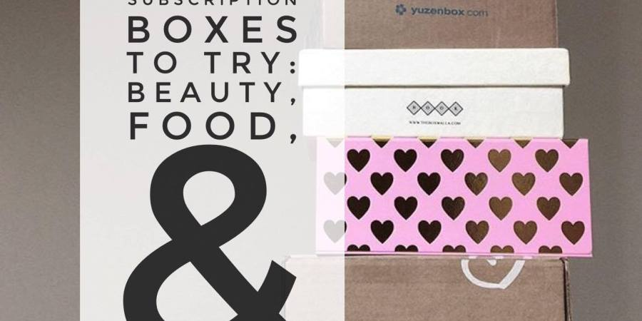 Organic monthly subscription boxes to try