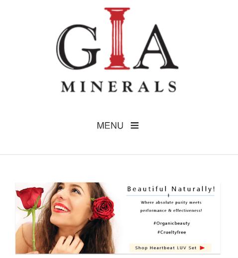 Gia Minerals Website