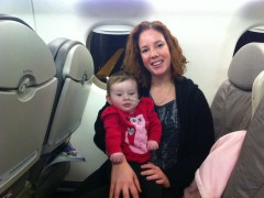 Lauren and Mommy - enjoying our first plane trip together