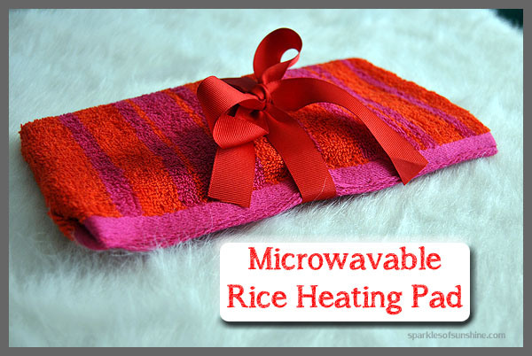 DIY Microwavable Rice Heating Pad | Sparkles of Sunshine