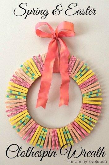 Spring Clothespin Wreath - HMLP Feature
