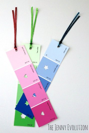 Upcycled Paint Chip Bookmarks - HMLP Feature 4-24-2015