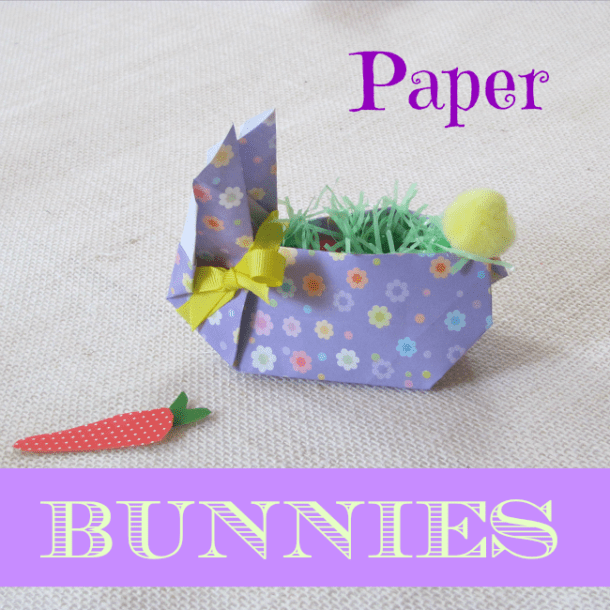 Cuter Than Cute Easter Paper Bunnies - Crafts a la Mode - HMLP 72 Feature