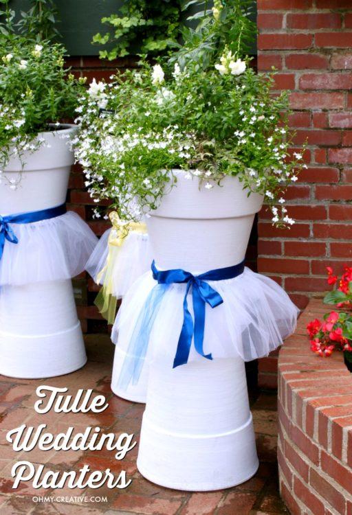 Tulle DIY Wedding Flower Pots - Oh, My Creative - HMLP 88 - Feature