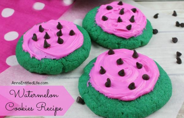 Watermelon Cookies Recipe - Ann's Entitled Life - HMLP 88 - Feature