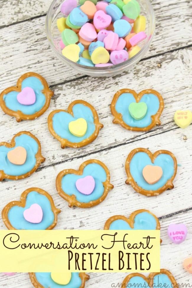 Conversation Heart Pretzel Bites - A Mom's Take - HMLP 119 Feature