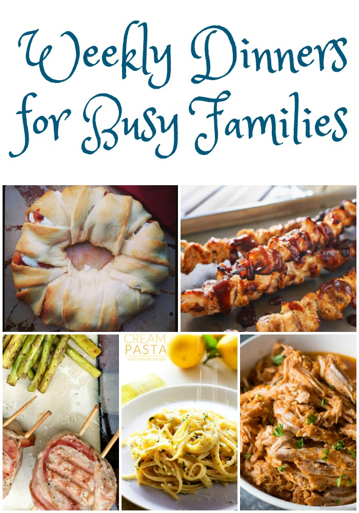 Weekly Dinner Ideas For Busy Families - Must Have Mom! - HMLP Feature 117