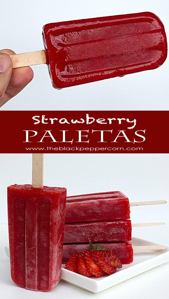 Strawberry Paletas - The Black Peppercorn - HMLP 141 Feature