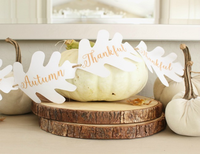 Free Fall Printable Autumn Garland Decor - Happy Happy Nester - HMLP 153 Feature