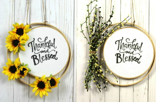Fall Embroidery Hoop Wreaths - My Husband Has Too Many Hobbies - HMLP 159 Feature