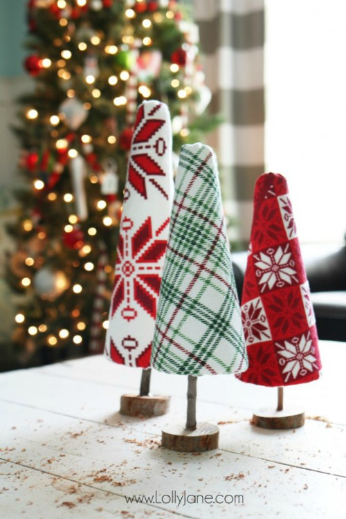 Ugly Christmas Sweater Trees Craft - Lolly Jane - HMLP 164 Feature
