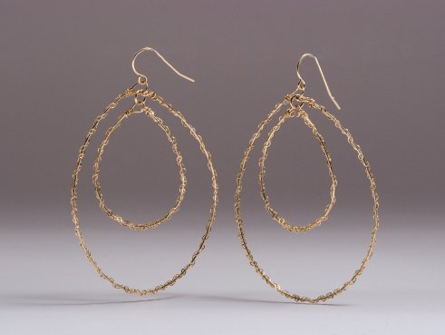 Gorjana lace hoop earrings