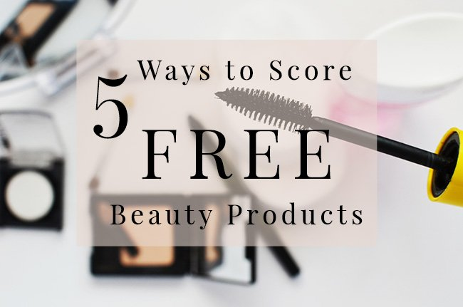 5 ways to score free beauty products