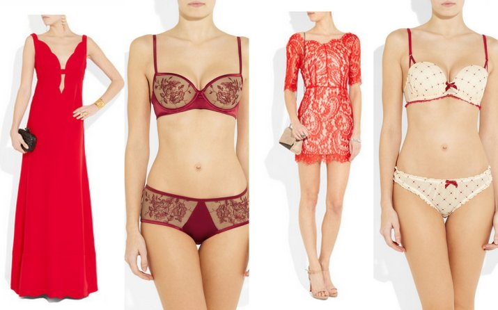 valentine's day gift ideas, outfit ideas, red dresses, red lingerie