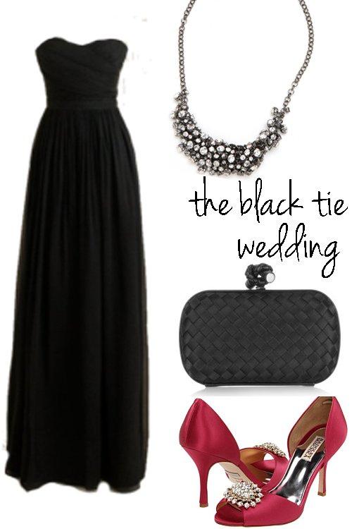 what to wear black tie wedding