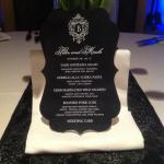 Black Elegance Die Cut Menu with custom monogram The Event Essentials