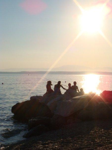croatia beach sunset
