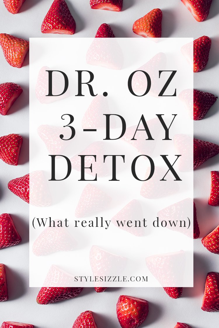 Dr. Oz Three Day Detox Cleanse Review
