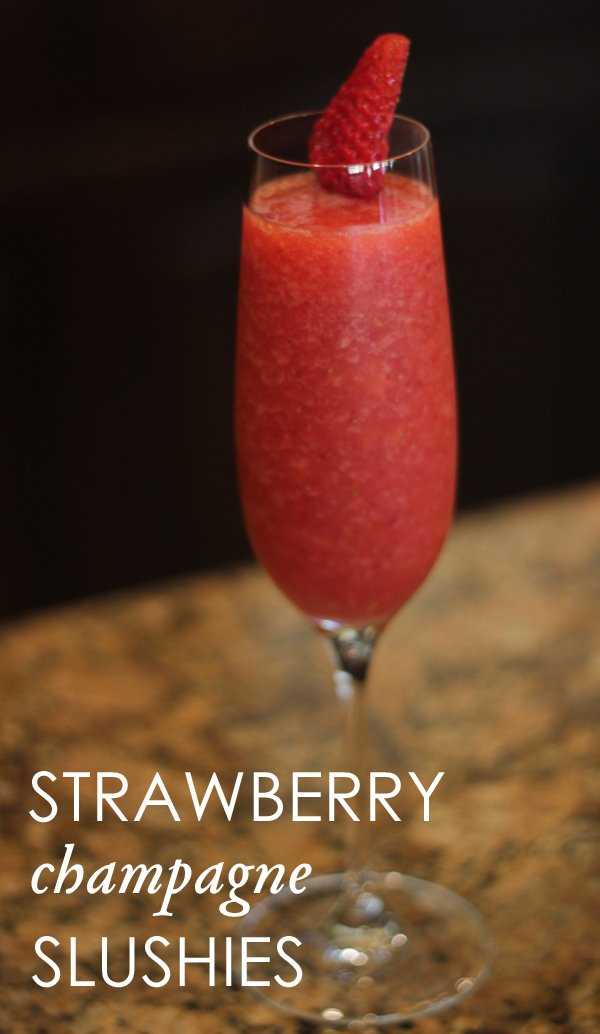 strawberry champagne slushie recipe