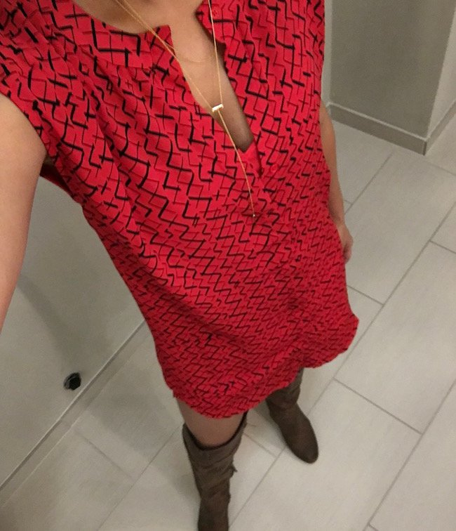 bb dakota red dress