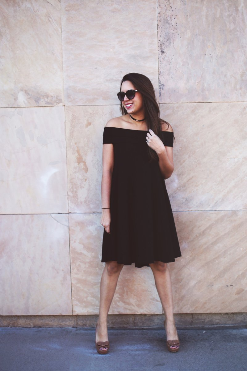 Off the Shoulder Black Dress, click to see the rest of this look and some of the other best Off the Shoulder Black Dresses!