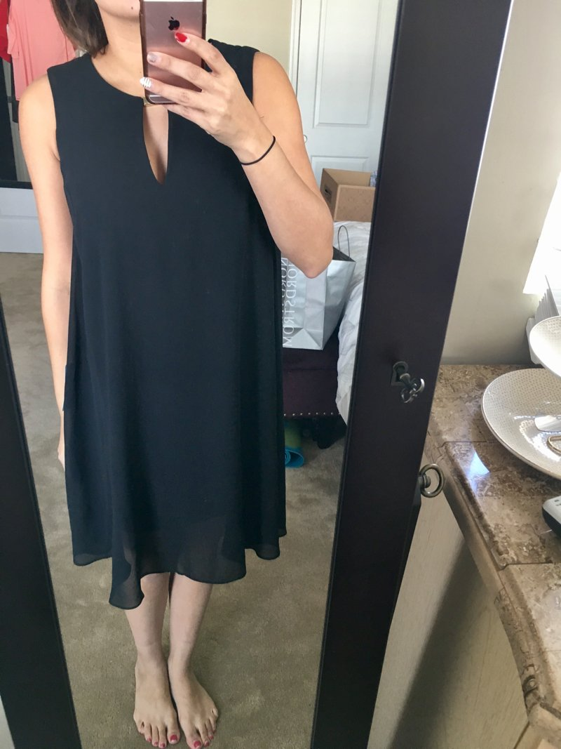 Vince camuto black shift dress from Trunk Club. Click to see the rest of my Trunk Club haul