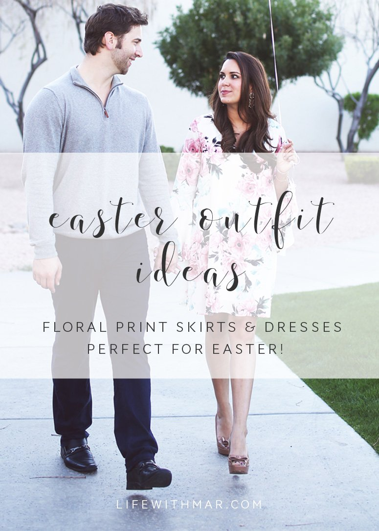 Easter outfit ideas, beautiful floral print dresses and skirts perfect for spring and Easter! Loads of picks under $50, click to see all the Easter outfit ideas