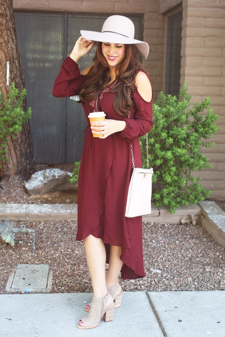 knox rose cold shoulder dress