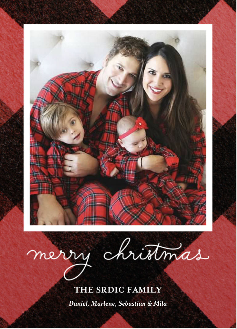 2017 holiday card Shutterfly