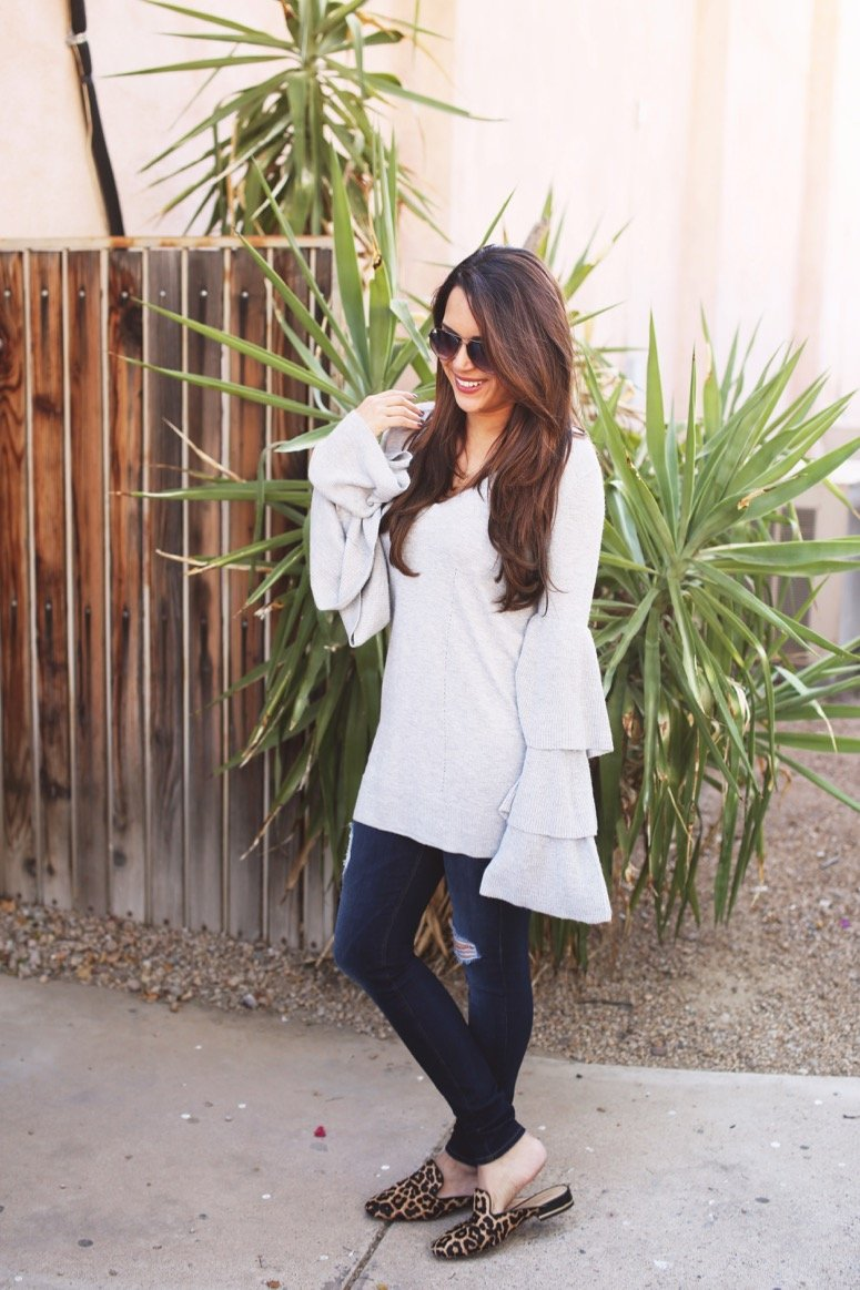 nordstrom tiered sweater