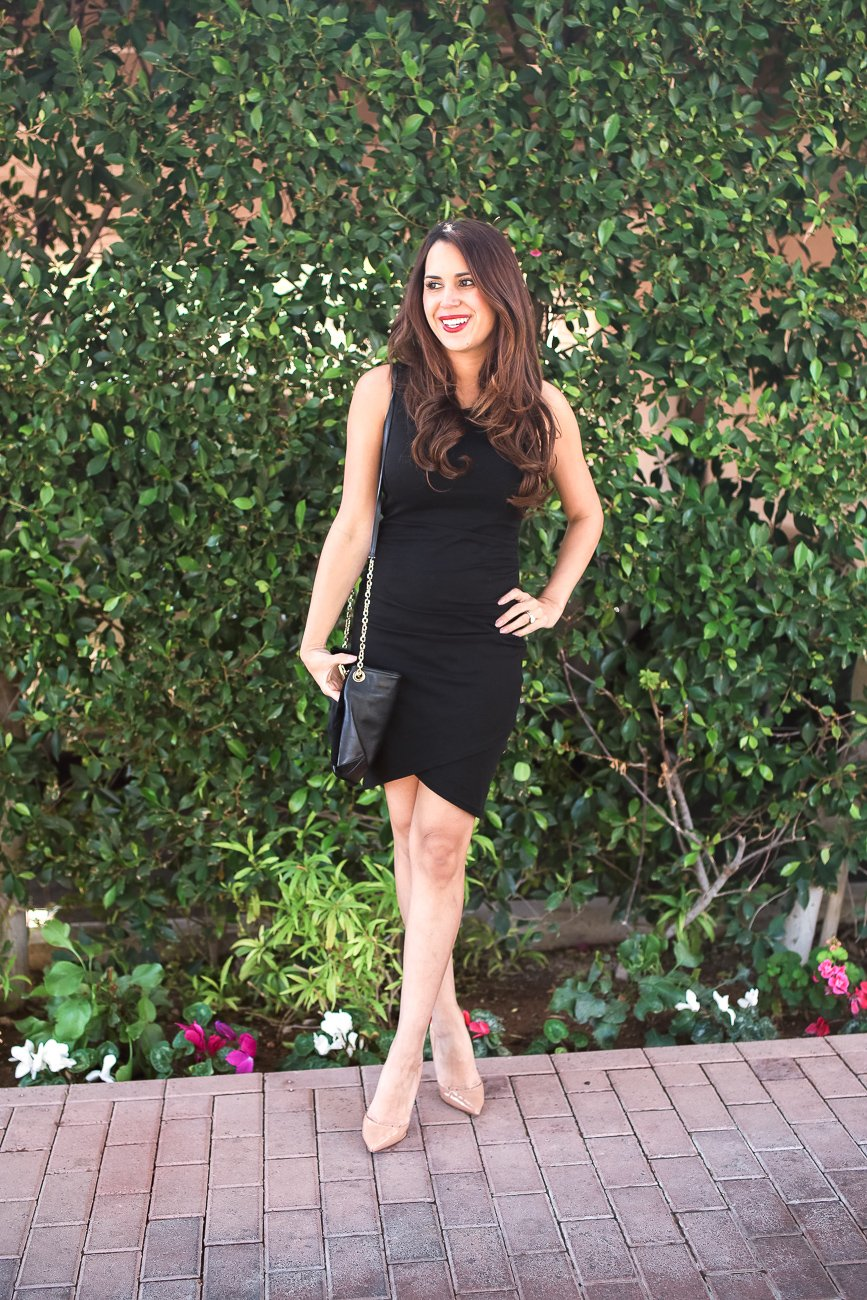 leith ruched black dress the best LBD ever! Comes in 7 colors and is under $100.