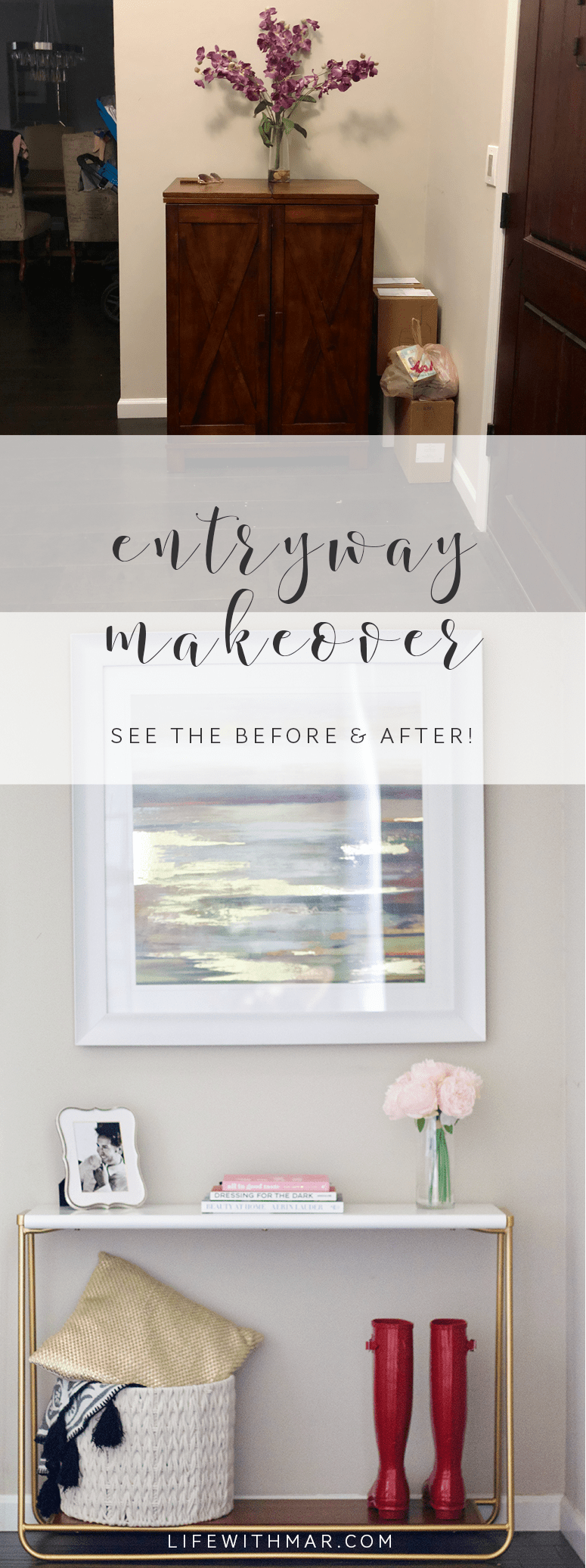 entryway makeover project 62 sayere console table