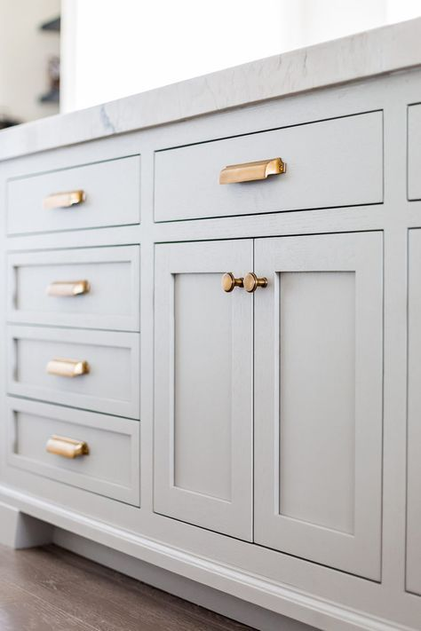 grey and gold kitchen inspiration