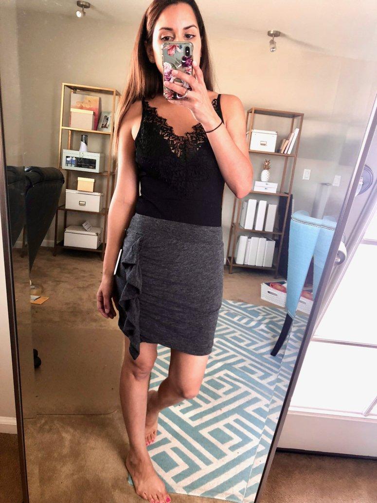 october trunk club haul grey skirt