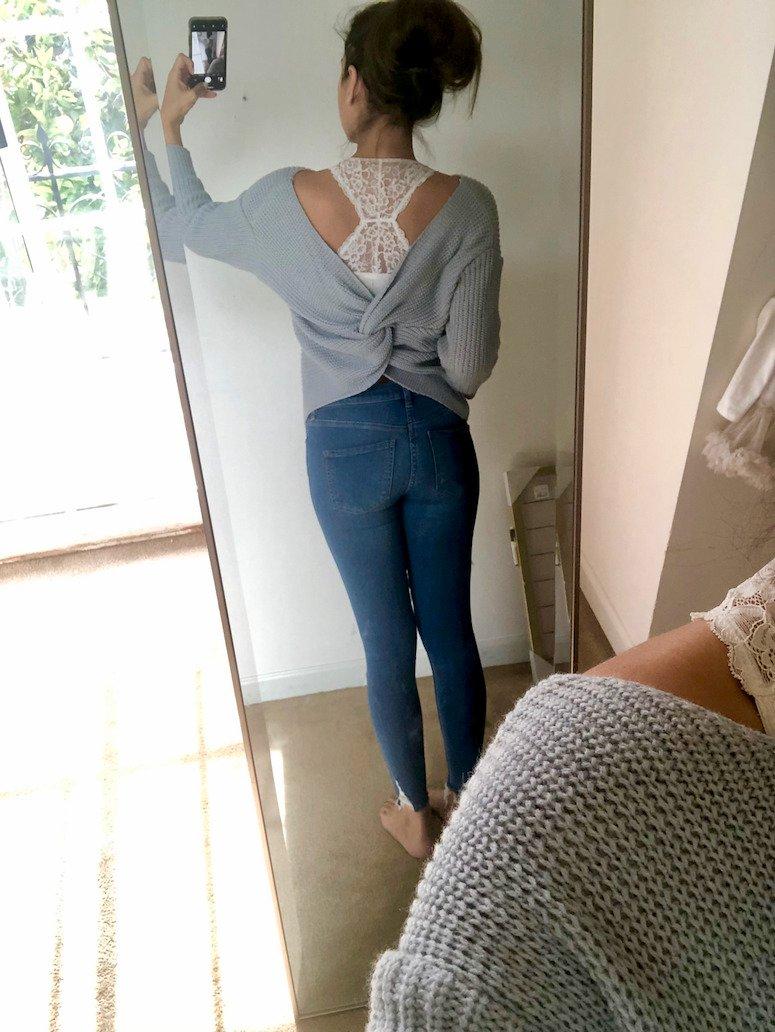 amazon sweaters under $50 grey knot sweater