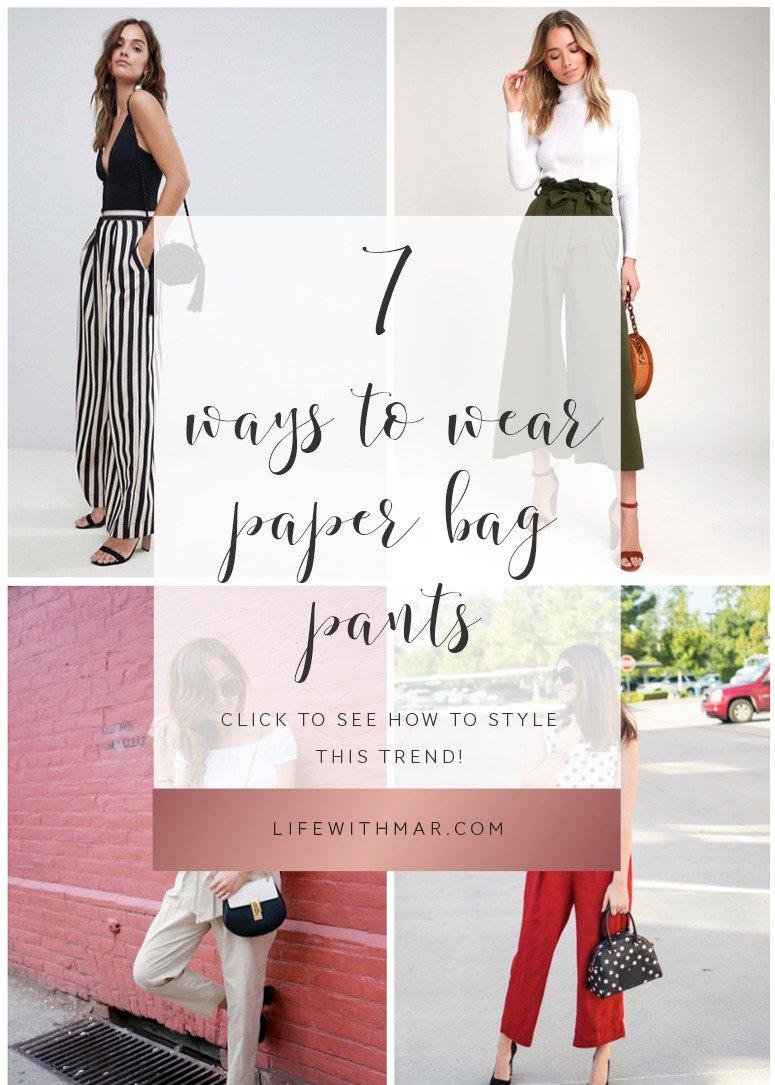 7 ways to wear paper bag waist pants