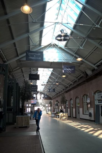 The old tram station is now a fancy food hall