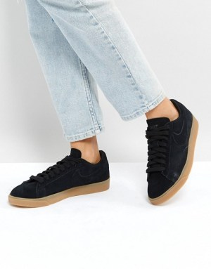 Black sneakers beige gum