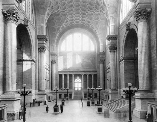 The Waiting Room at old Pennsylvania Station, designed by Charles McKim and William Richardson