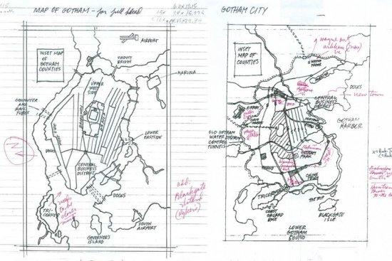 gotham city map sketches