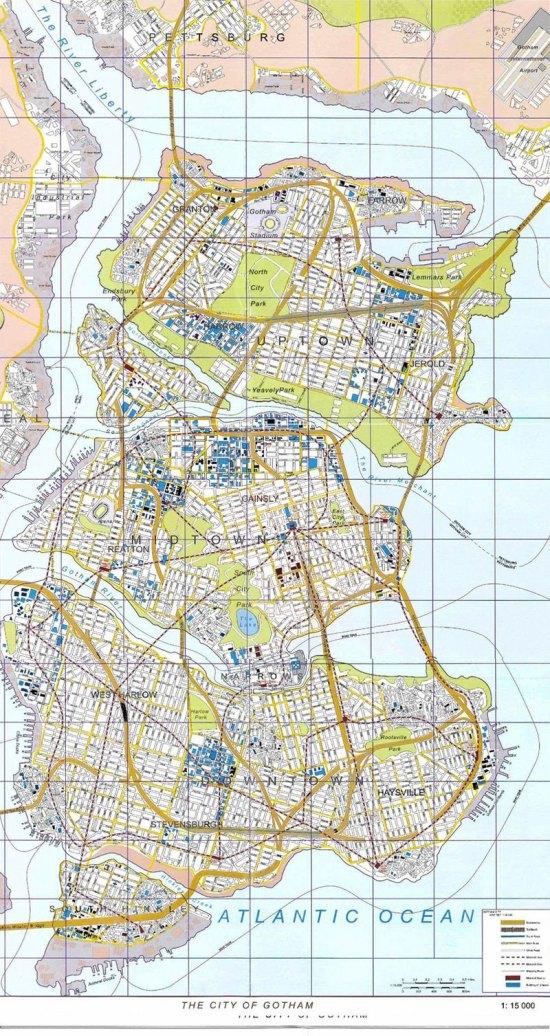 gotham city map color